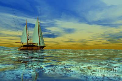 Boating Digital Art - Trim Of Gold by Corey Ford