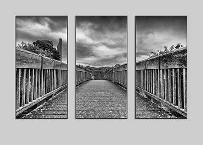 Photograph - Trim Triptych 3 by Martina Fagan