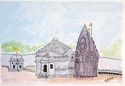 Painting - Trimbakeshwar Jyotirlinga by Keshava Shukla
