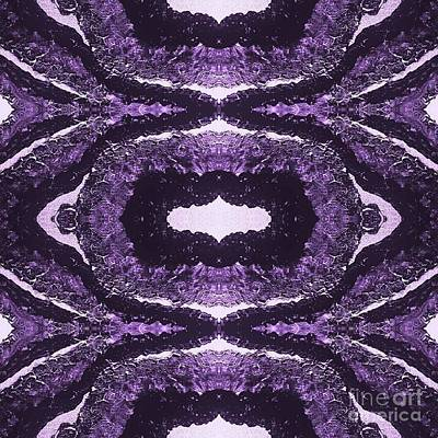 Digital Art - Trinal Purple by Rachel Hannah