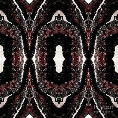 Digital Art - Trinal Red by Rachel Hannah