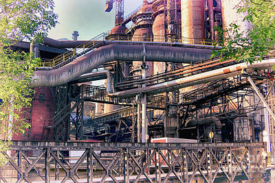 Photograph - Trinec Iron And Steel Works Iv by Mariola Bitner