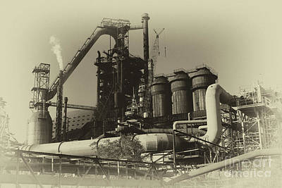 Photograph - Trinec Iron And Steel Works by Mariola Bitner