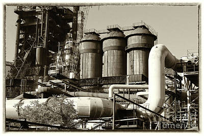 Photograph - Trinec Iron And Steel Works V by Mariola Bitner