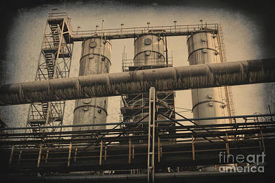 Photograph - Trinec Iron And Steel Works Vi by Mariola Bitner