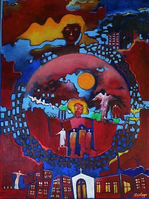 Painting - Trinidad by Adalardo Nunciato  Santiago