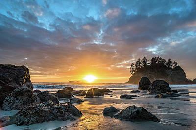 Photograph - Trinidad Beach Autumn Sunset by Greg Nyquist