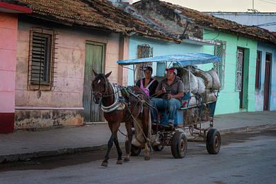Photograph - Trinidad Cuba Hay Cart by Joan Carroll