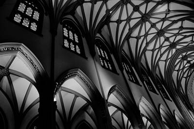1-war Is Hell Royalty Free Images - Trinity Church B/W Royalty-Free Image by Ryan A Lubit