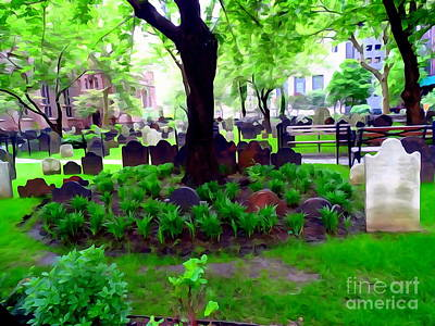 Digital Art - Trinity Church Cemetery by Ed Weidman