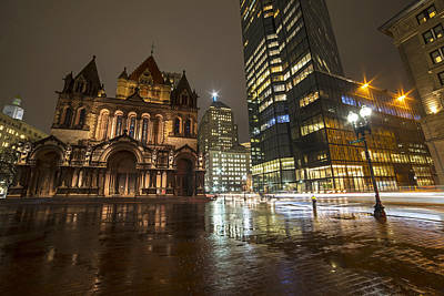 Photograph - Trinity Church John Hancock Tower Boston Ma by Toby McGuire