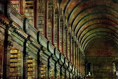 Photograph - Trinity College Library by Vittorio Chiampan