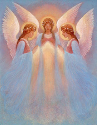 Painting - Trinity Of Angels by Jack Shalatain