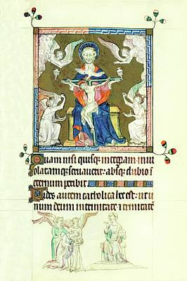 Painting - Trinity Psalter by Anonymous