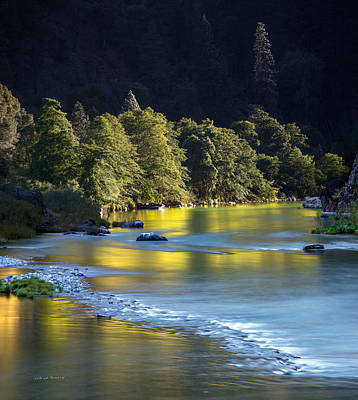 Photograph - Trinity River Evening Light by Leland D Howard