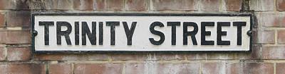 Photograph - Trinity Street Name Sign by Jacek Wojnarowski