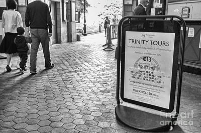 Photograph - Trinity Tours Bw by Jim Orr