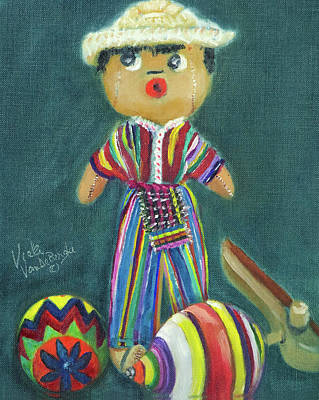 Painting - Trinkets From Guatemala by Vicki VanDeBerghe