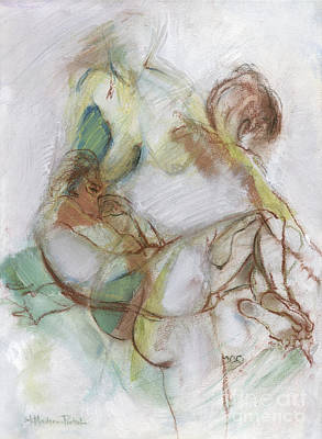 Painting - Trio - Female Nude Study by Kerryn Madsen-Pietsch