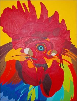 Trio De Gallos Art Print