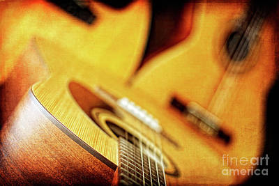 Photograph - Trio Of Acoustic Guitars by Lincoln Rogers