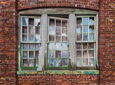 Photograph - Trio Of Broken Windows by Gary Slawsky