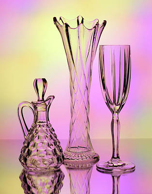 Photograph - Trio Of Cut Glass by Betty Denise