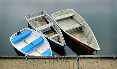 Photograph - Trio Of Dinghy's by Betty Denise