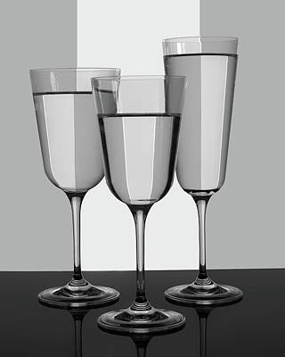 Photograph - Trio Of Glasses by Nikolyn McDonald