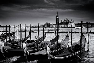 Old Photograph - Trio Of Gondolas by Andrew Soundarajan