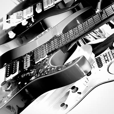 The Fabulous Kingpins Photograph - Trio Of Guitars by David Patterson