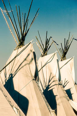 Tipi Photograph - Trio Of Tipis by Todd Klassy