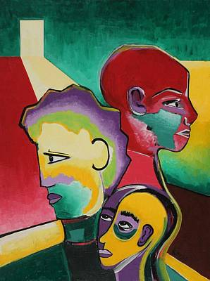 Family Separation Painting - Trio by Rollin Kocsis