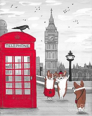 Trip To London Art Print by Margaryta Yermolayeva