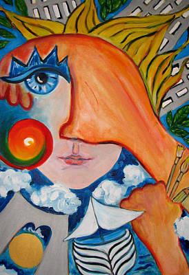 Painting - Trip To Ny by Krisztina Asztalos