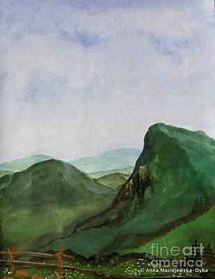 Painting - Trip To The Mountains by Anna Folkartanna Maciejewska-Dyba