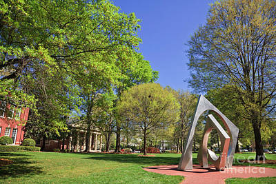 Photograph - Triple Arc I Sculpture At Queens University by Jill Lang