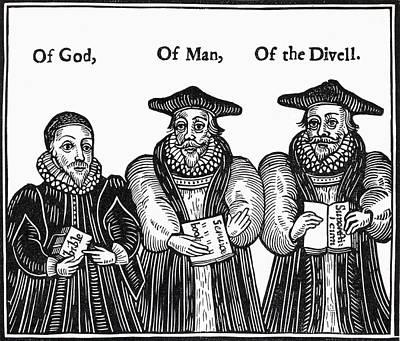 Clergy Drawing - Triple Episcopacie. Of God, Of Man, Of by Vintage Design Pics