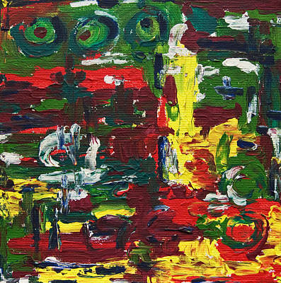 Painting - Triple Eyed Workshop by Gabi Dziok-Grubb