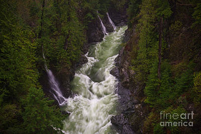 Photograph - Triple Falls by Carrie Cole