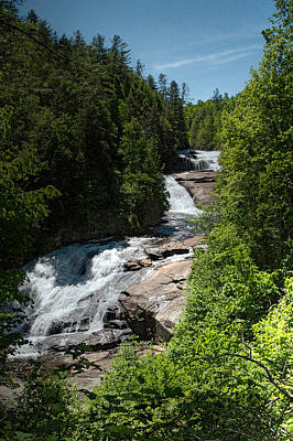 Photograph - Triple Falls In Dupont State Forest by John Haldane