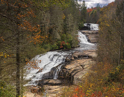 Photograph - Triple Falls by Ken Barrett