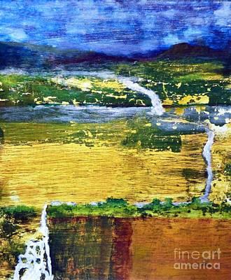 Triple Falls Landscape Art Print by Sharon Eng