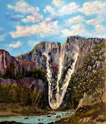Painting - Triple Falls by Michael Dillon