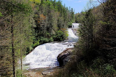 Photograph - Triple Falls View by Allen Nice-Webb