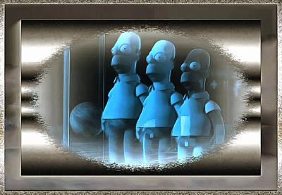 Digital Art - Triple Ghosts by Mario Carini