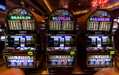 Triple Hot Ice Slot Machines At Lumiere Place Casino Art Print by David Oppenheimer