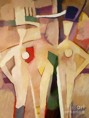 Painting - Triple Ladies by Lutz Baar