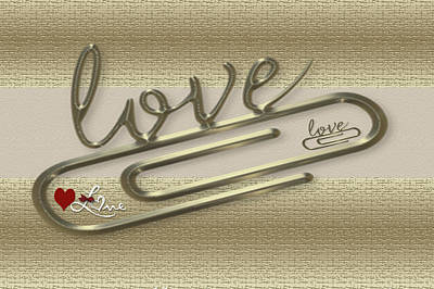 Triple Love Art Print by Tina M Wenger