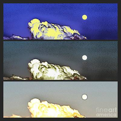 Photograph - Triple Moon by Rachel Hannah